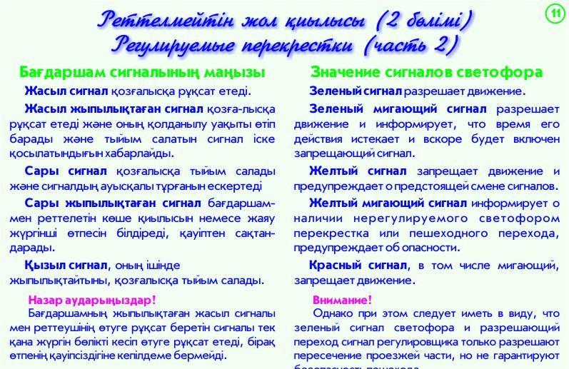 11. Регулируемые перекрестки - 2 часть-Реттелмейтін жол қиылысы бөлімі 2