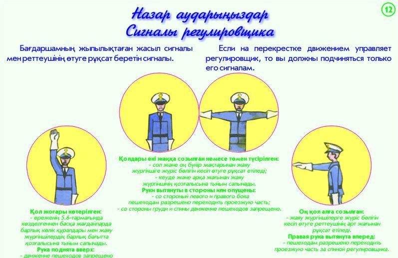 12. Сигналы регулировщика-Назар аударыңыздар
