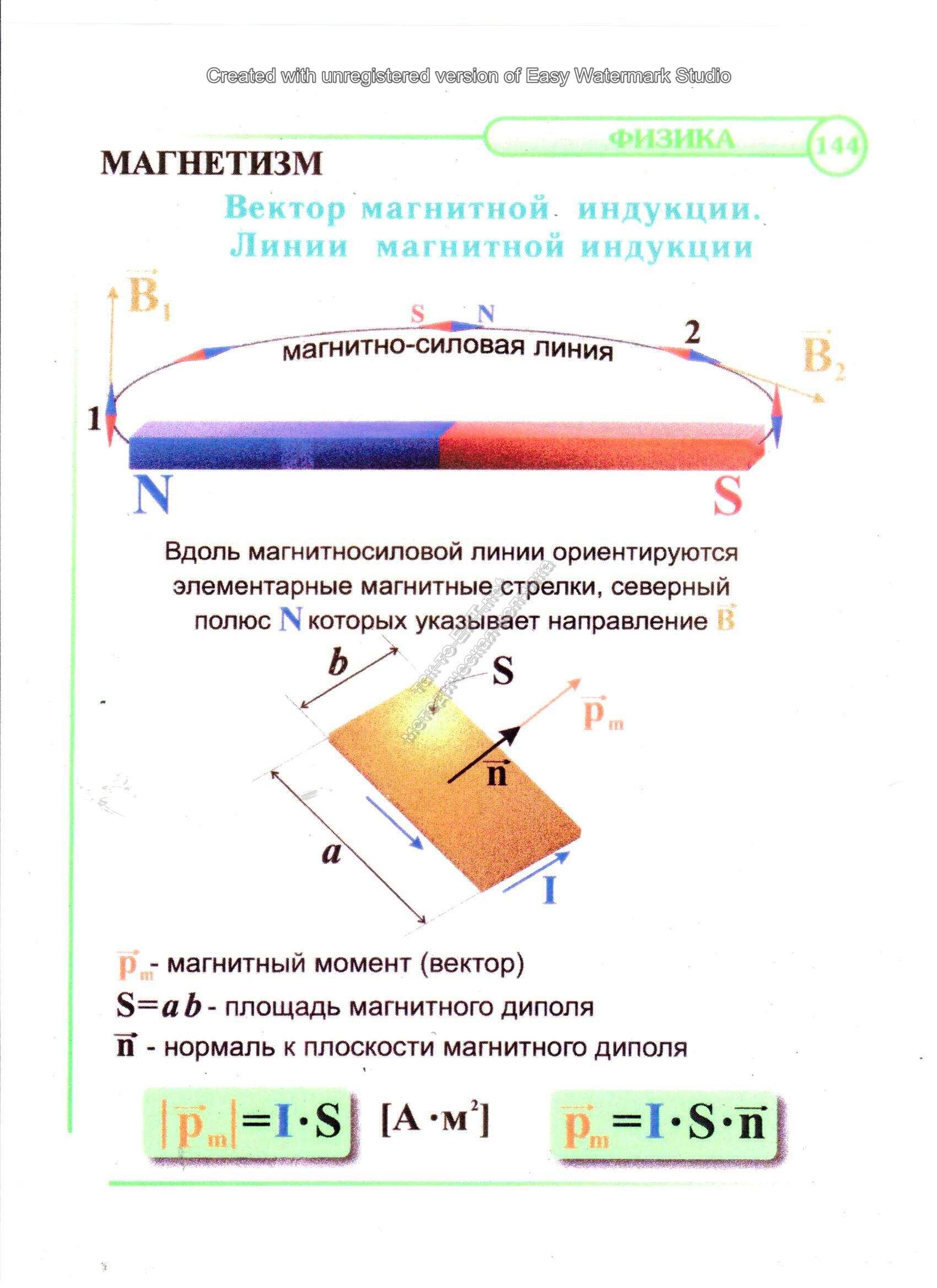Вектор магнитной индукции. Линии магнитной индукции