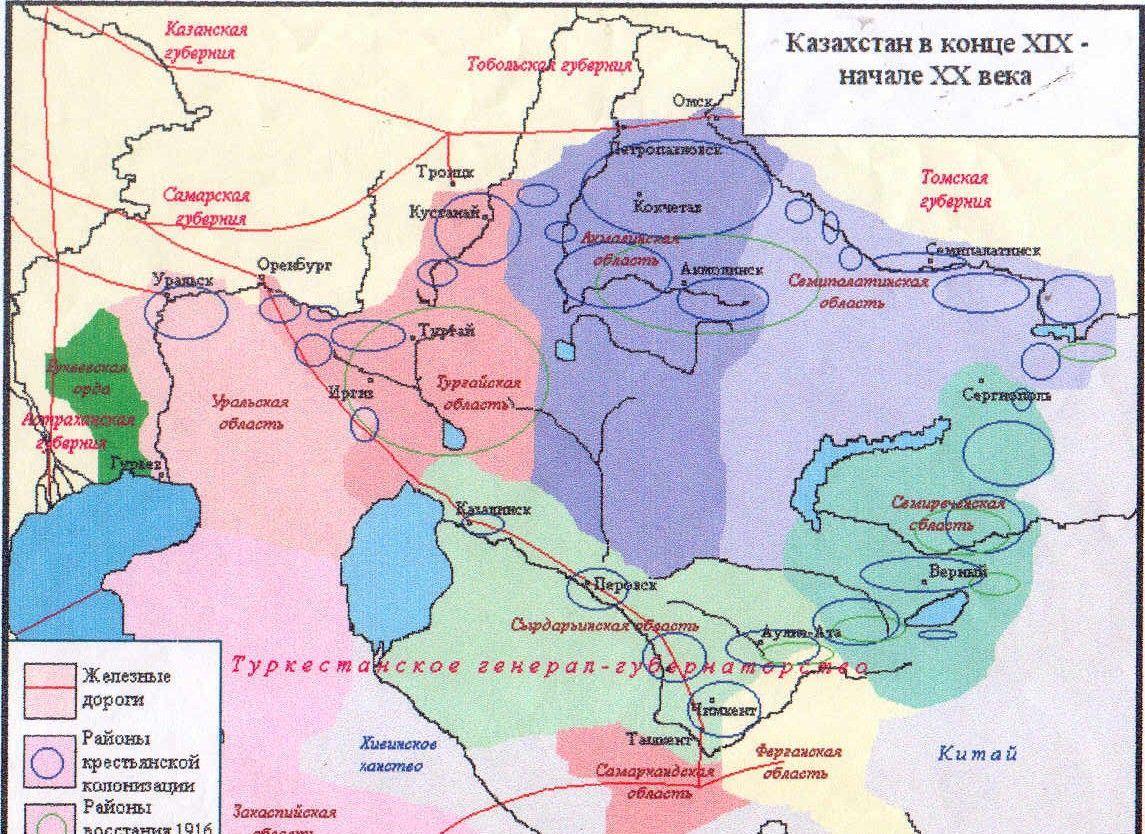 Казахстан в конце XIX начале XX века