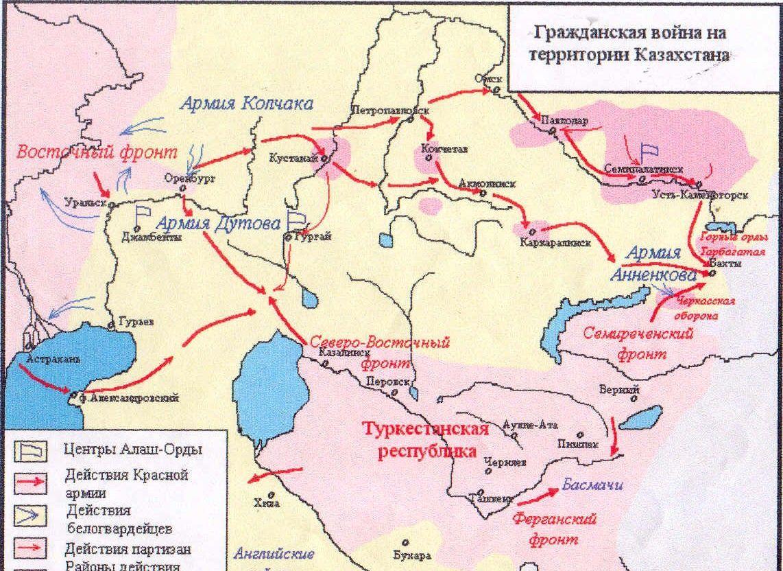 Гражданская война на территории Казахстана