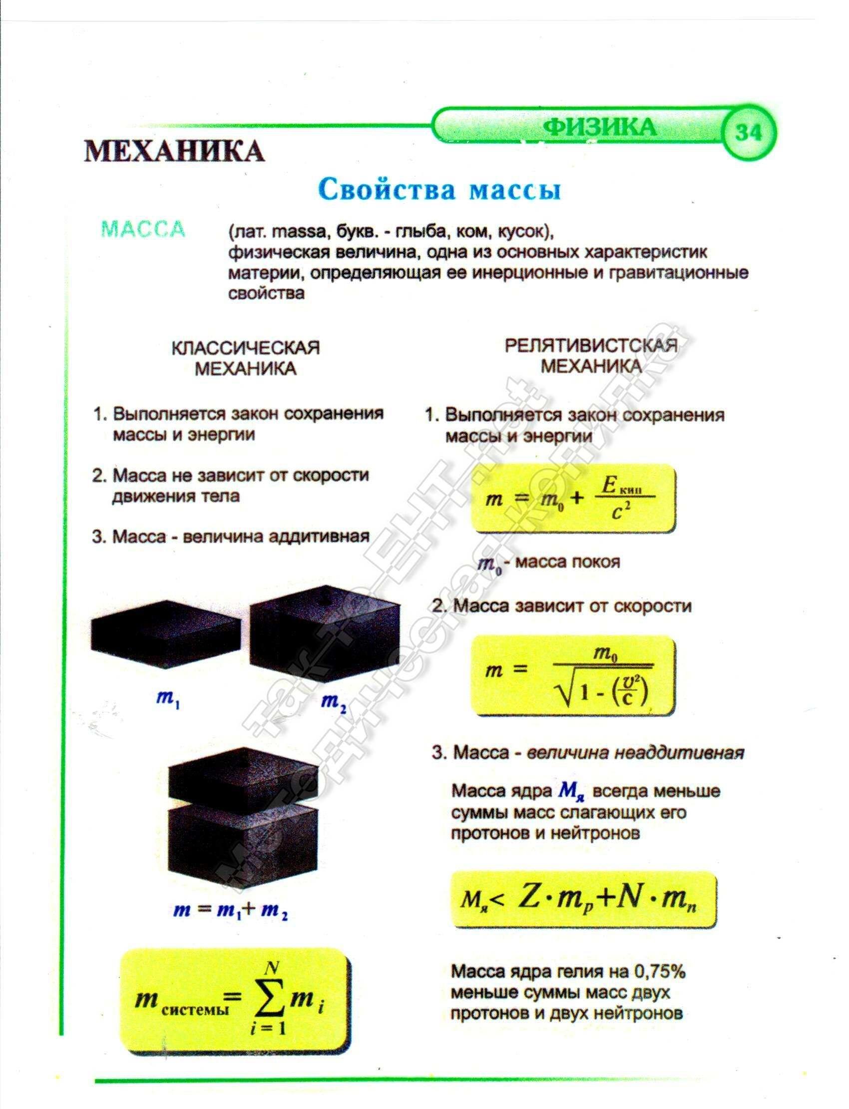 Свойства массы (механика)