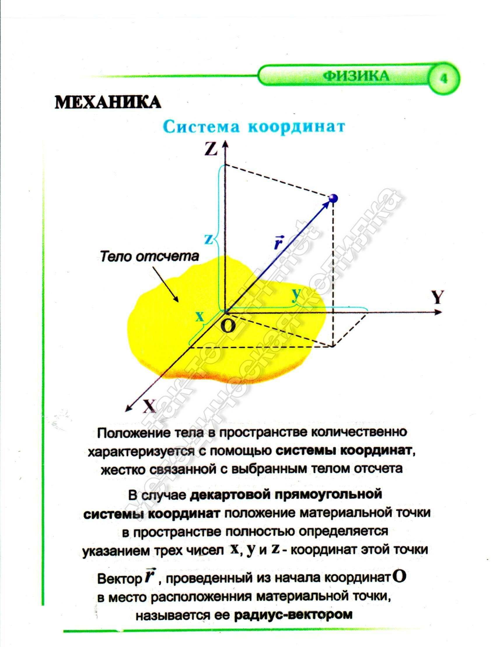 4 Система координат (механика)